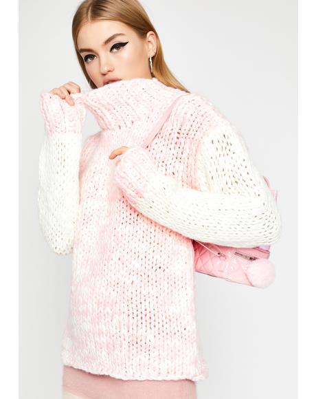 Candy Cloud Turtleneck Sweater