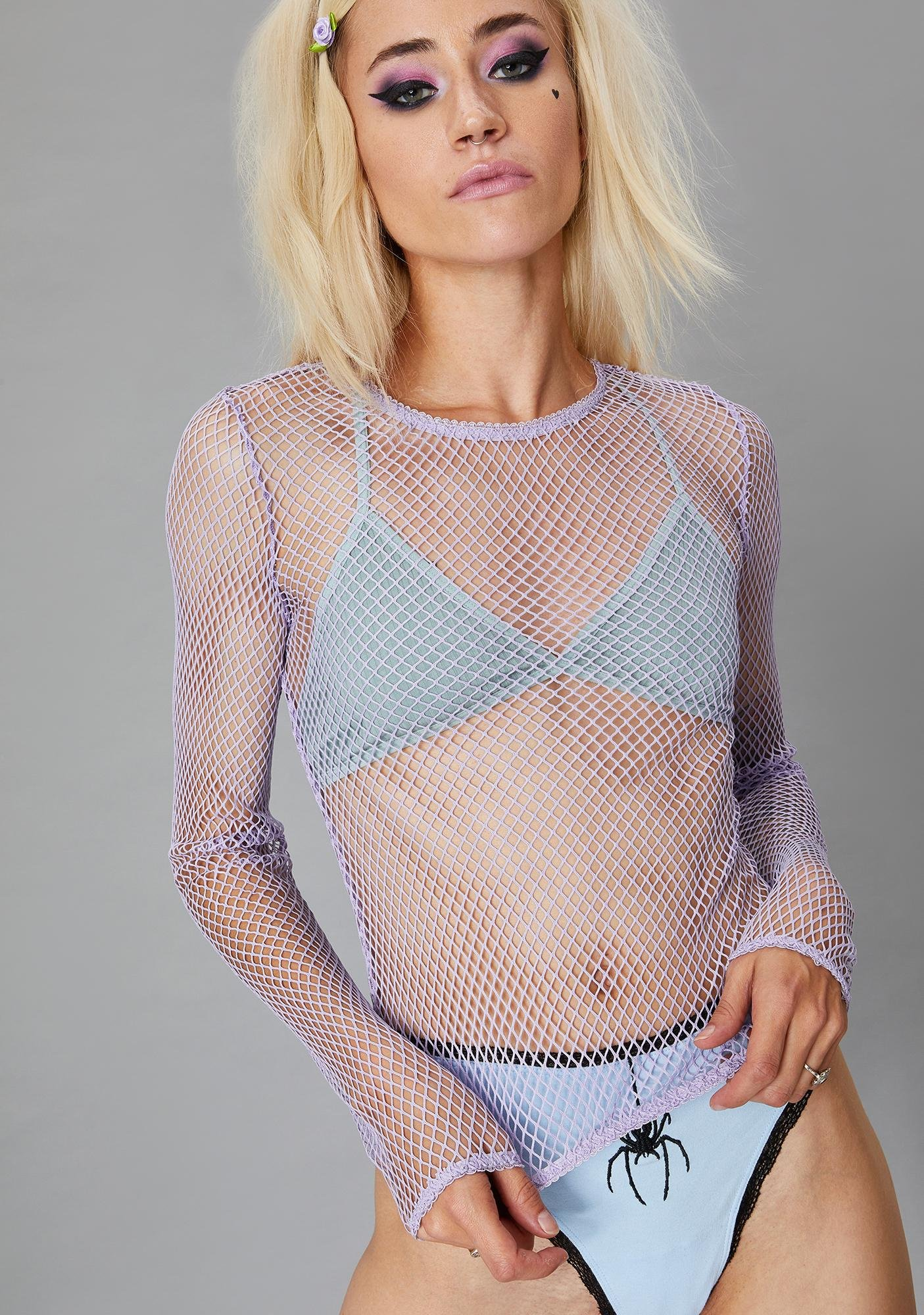 Widow Twilight Reverse The Curse Fishnet Top