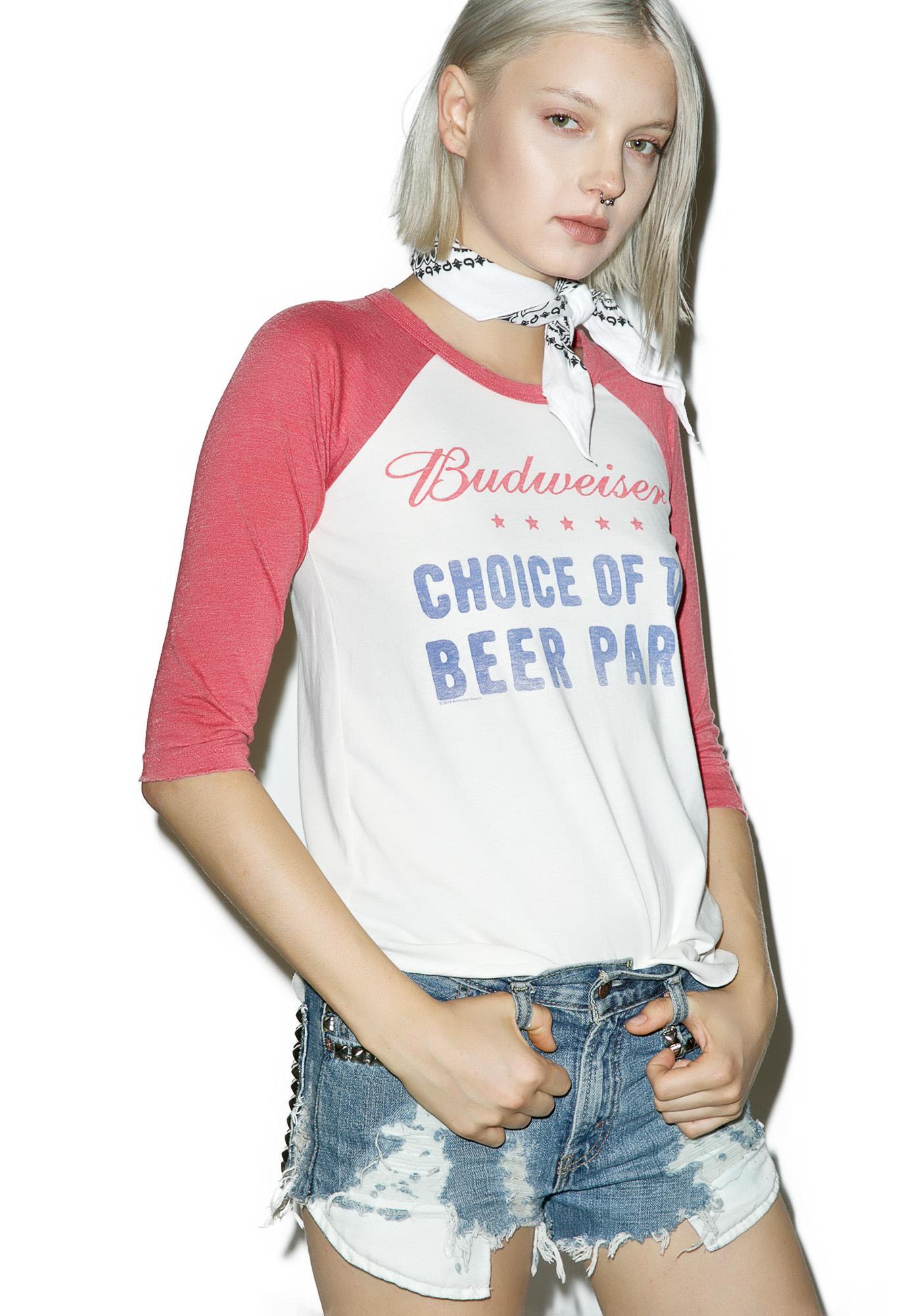 Junk Food Clothing Beer Party Tee