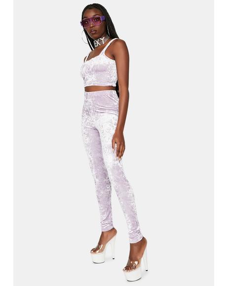 Never Grow Up Velvet Pants Set