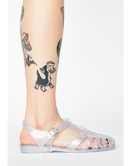 Glitter Babe Jelly Sandals