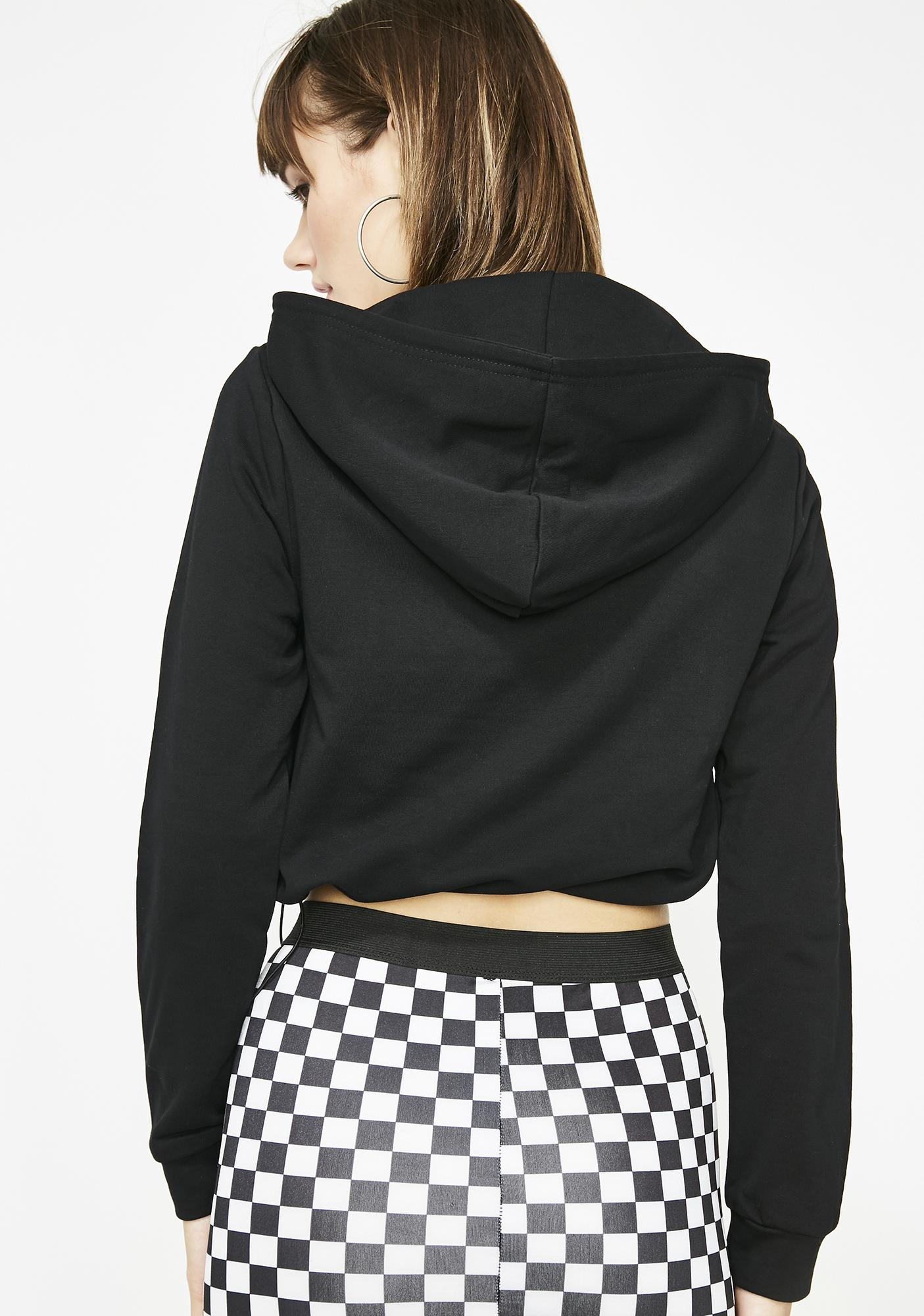 Midnight Fill My Cup Cropped Hoodie