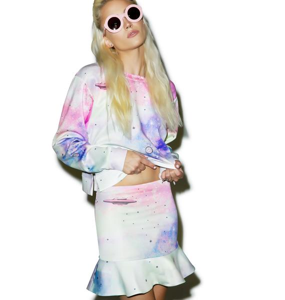 Wildfox Couture Space Cadet Ice Cream Skirt
