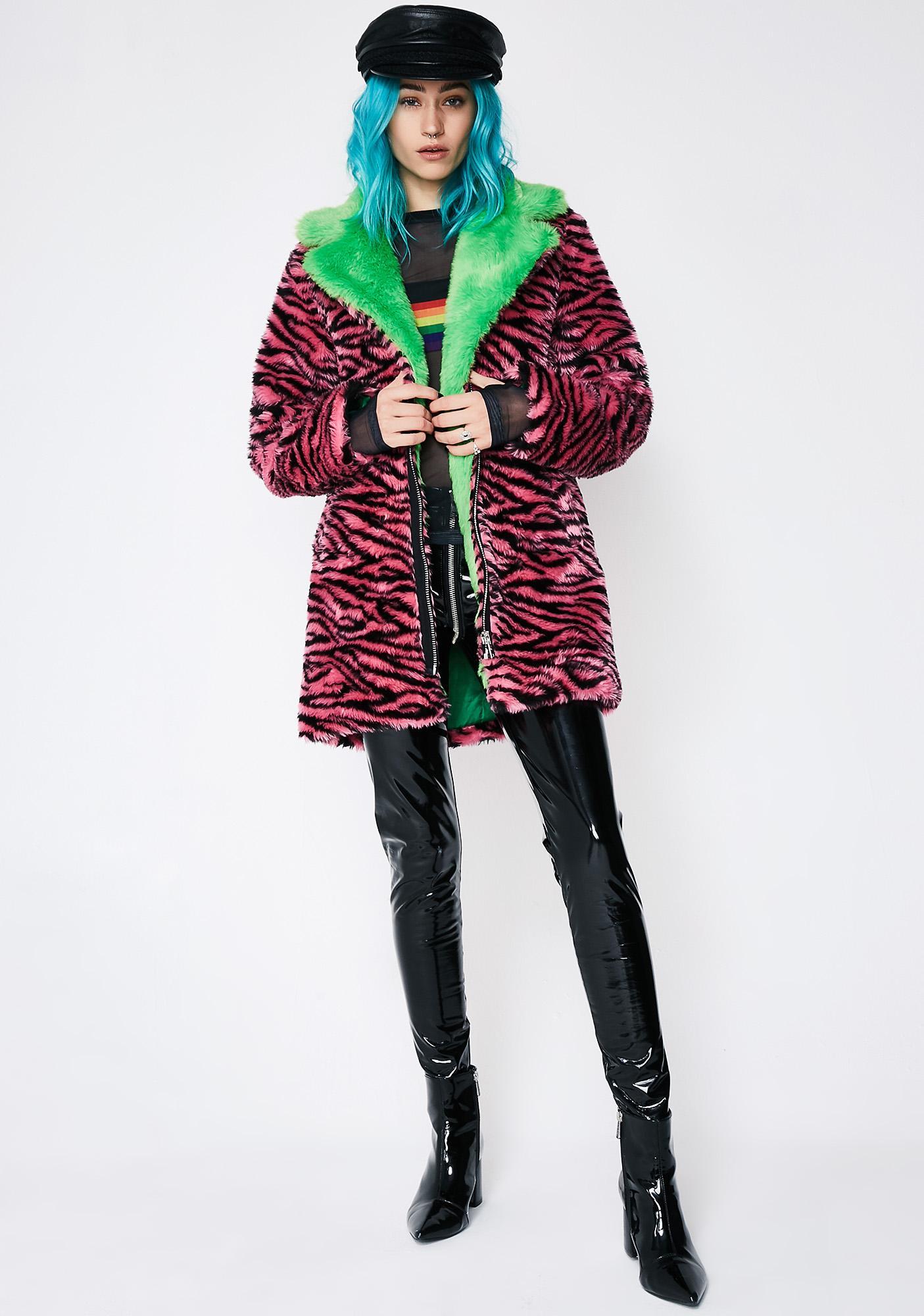 Current Mood Rare Breed Fur Coat