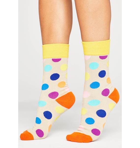 Beige Point 'Em Out Ankle Socks