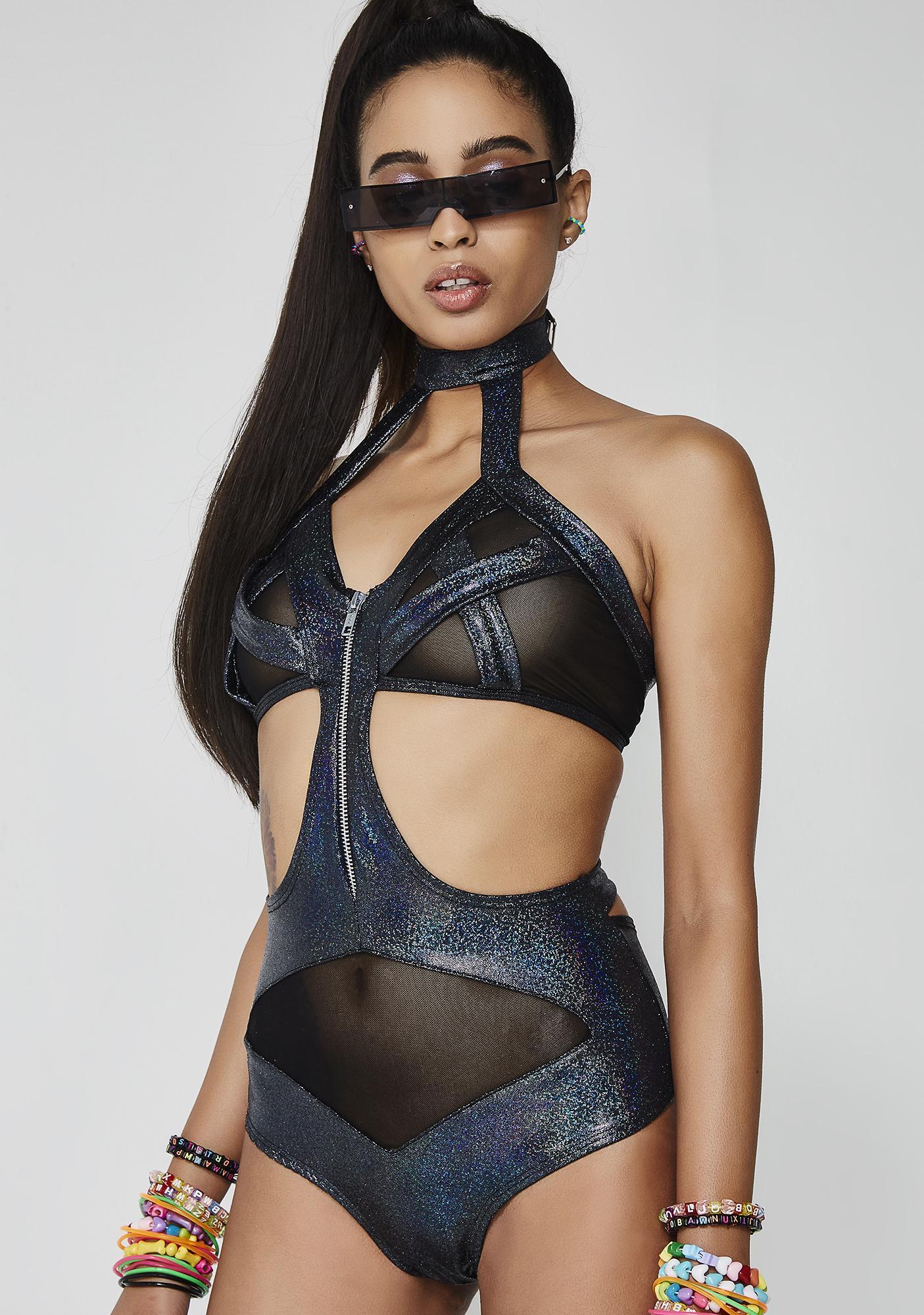 Cyber Siren Cut-Out Bodysuit