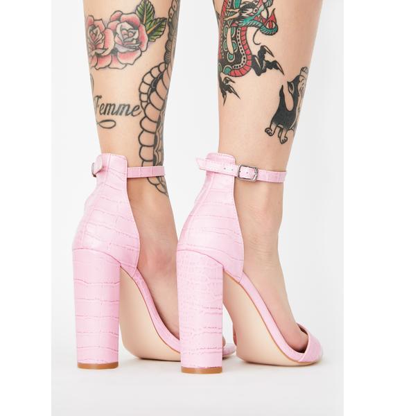 Public Desire Pink Miao Block Heels