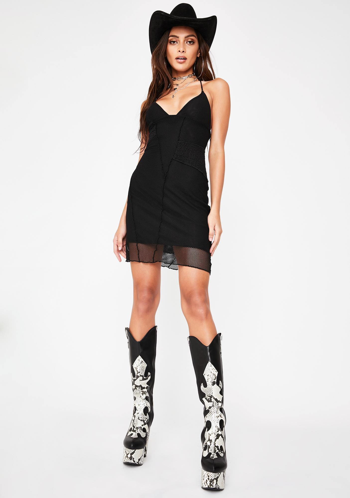 I AM GIA Moss Mesh Mini Dress