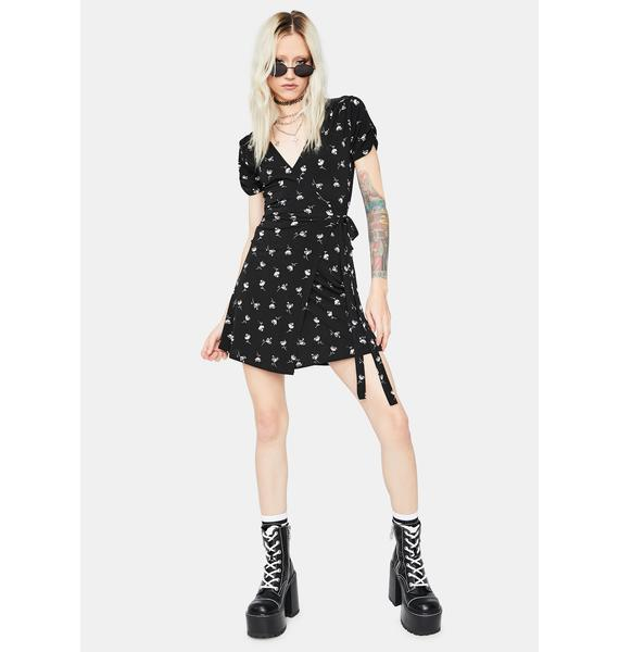 Eager Fears Floral Wrap Dress