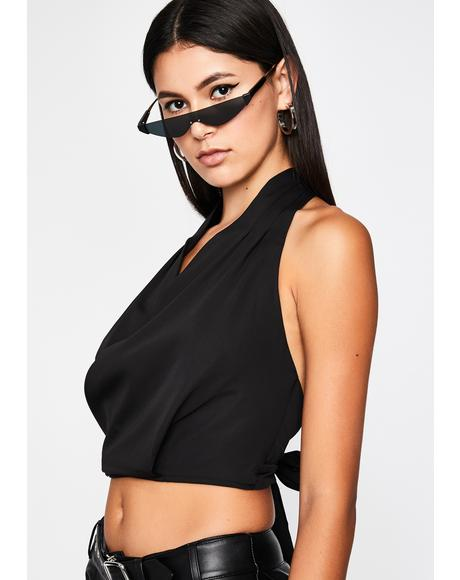 Baddie For Business Halter Top