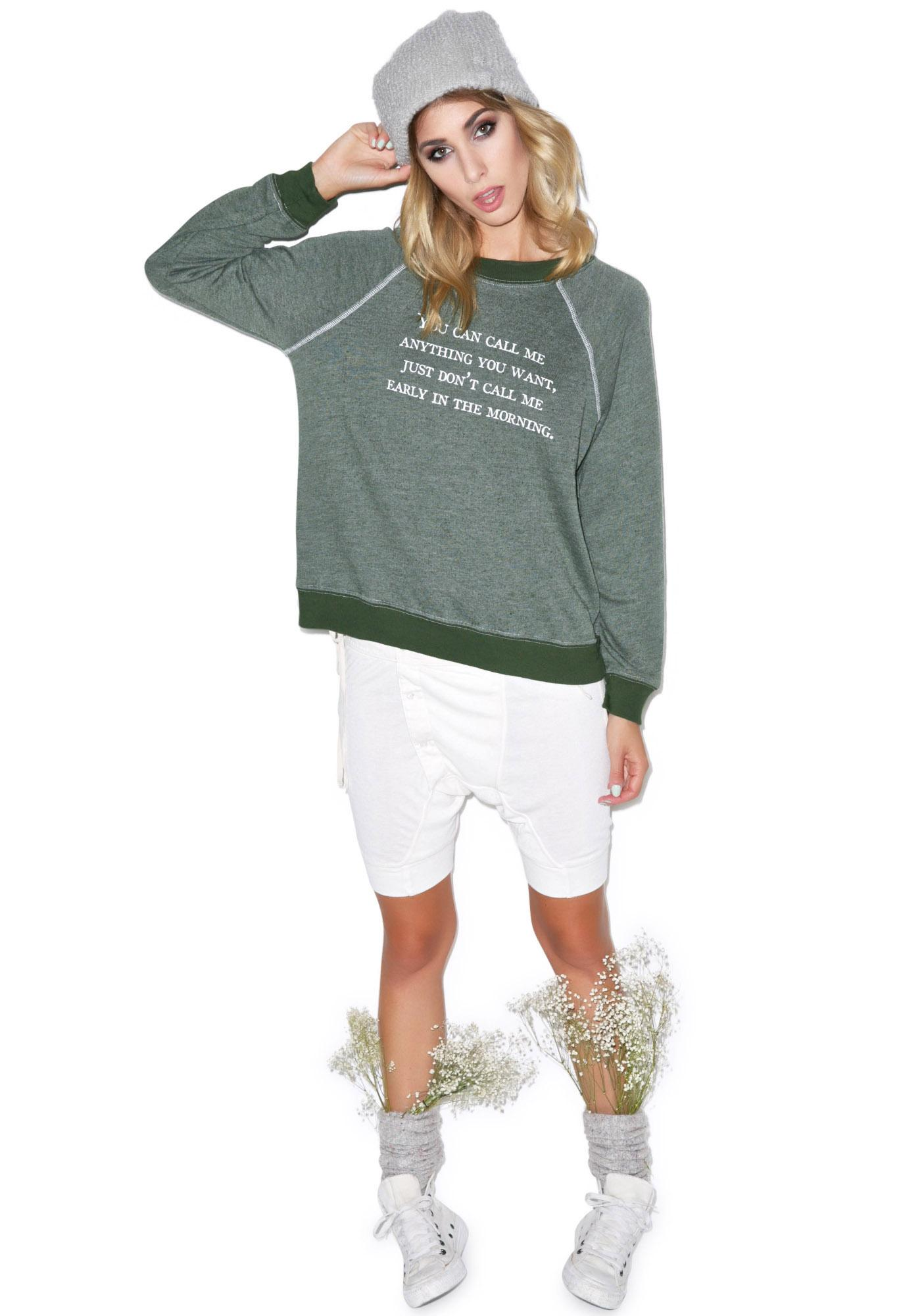Wildfox Couture Call Me Anytime Kim's Sweater