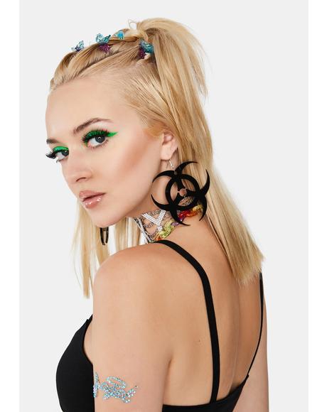 Black Toxic Earrings