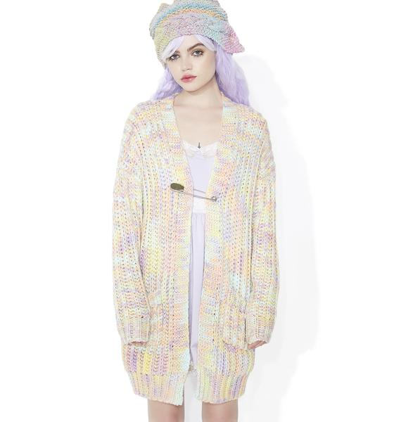 Sugar Thrillz Confetti Cakez Oversized Cardigan