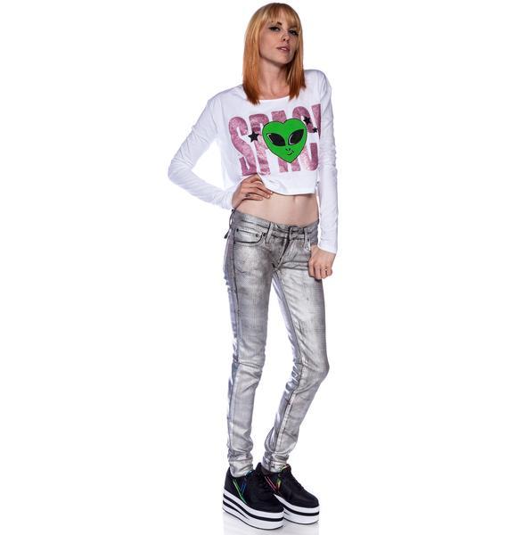 Kill City Junkie Pyramid Holographic Foil Pants