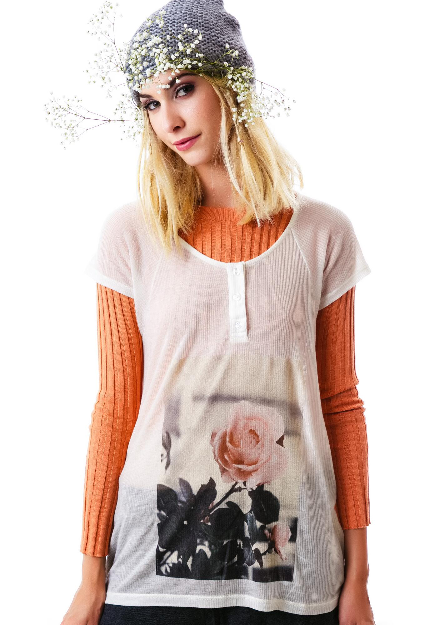 Wildfox Couture English Rose Lagoon Henley