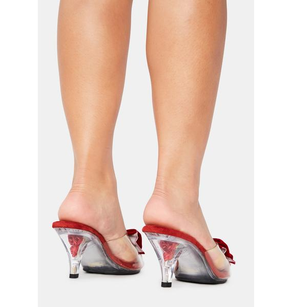 Pin Up Couture Belle Clear Heels