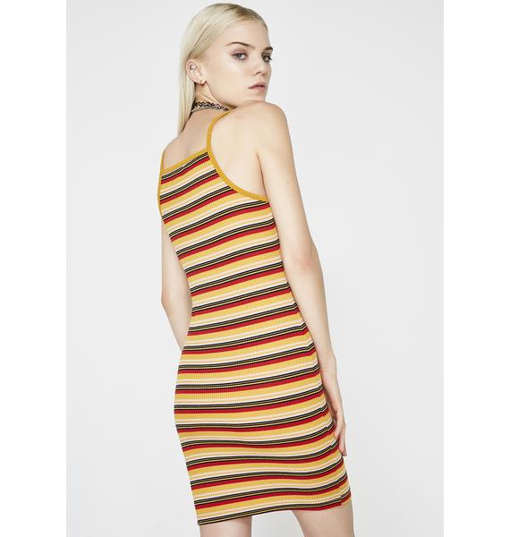 Slash and Burn Striped Dress