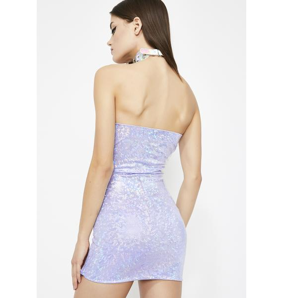 Kiss My Spectrum Hologram Dress