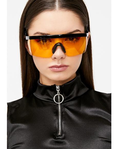 Electric God Of Thunder Shield Sunglasses