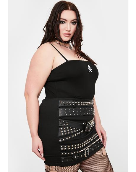 Wicked Hella Cash Strapped Mini Skirt
