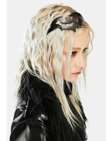 Black Bat Hair Headband