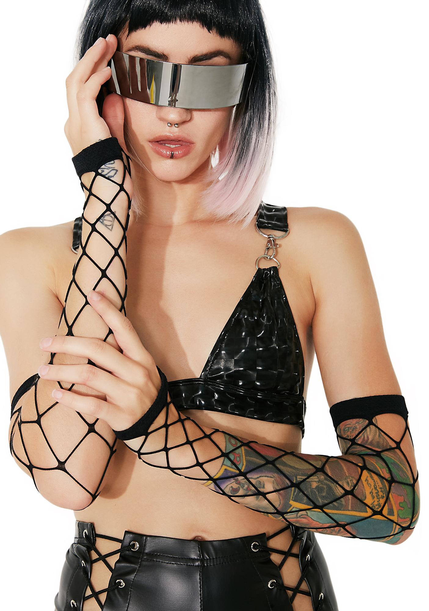 On The Fence Fishnet Gloves