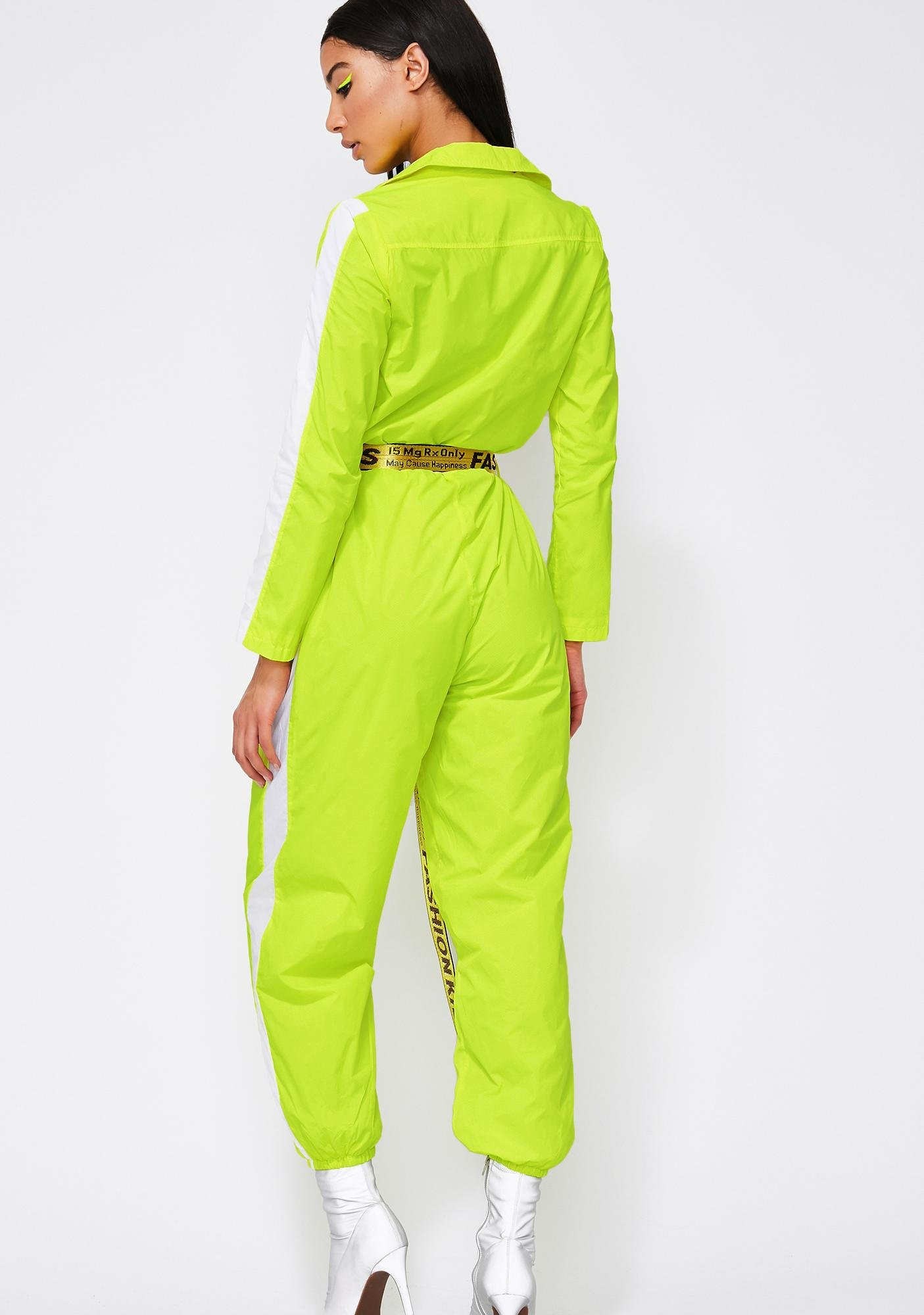 Electric Cosmic Radiation Belted Jumpsuit