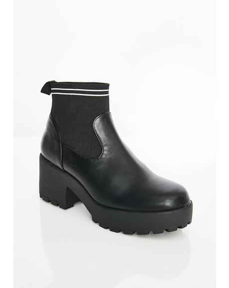 Crosbie Sock Heeled Boot