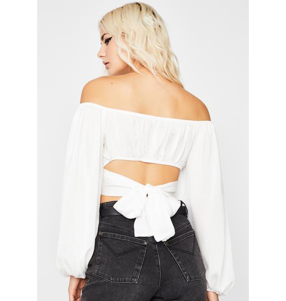 Purely Put Me First Crop Blouse