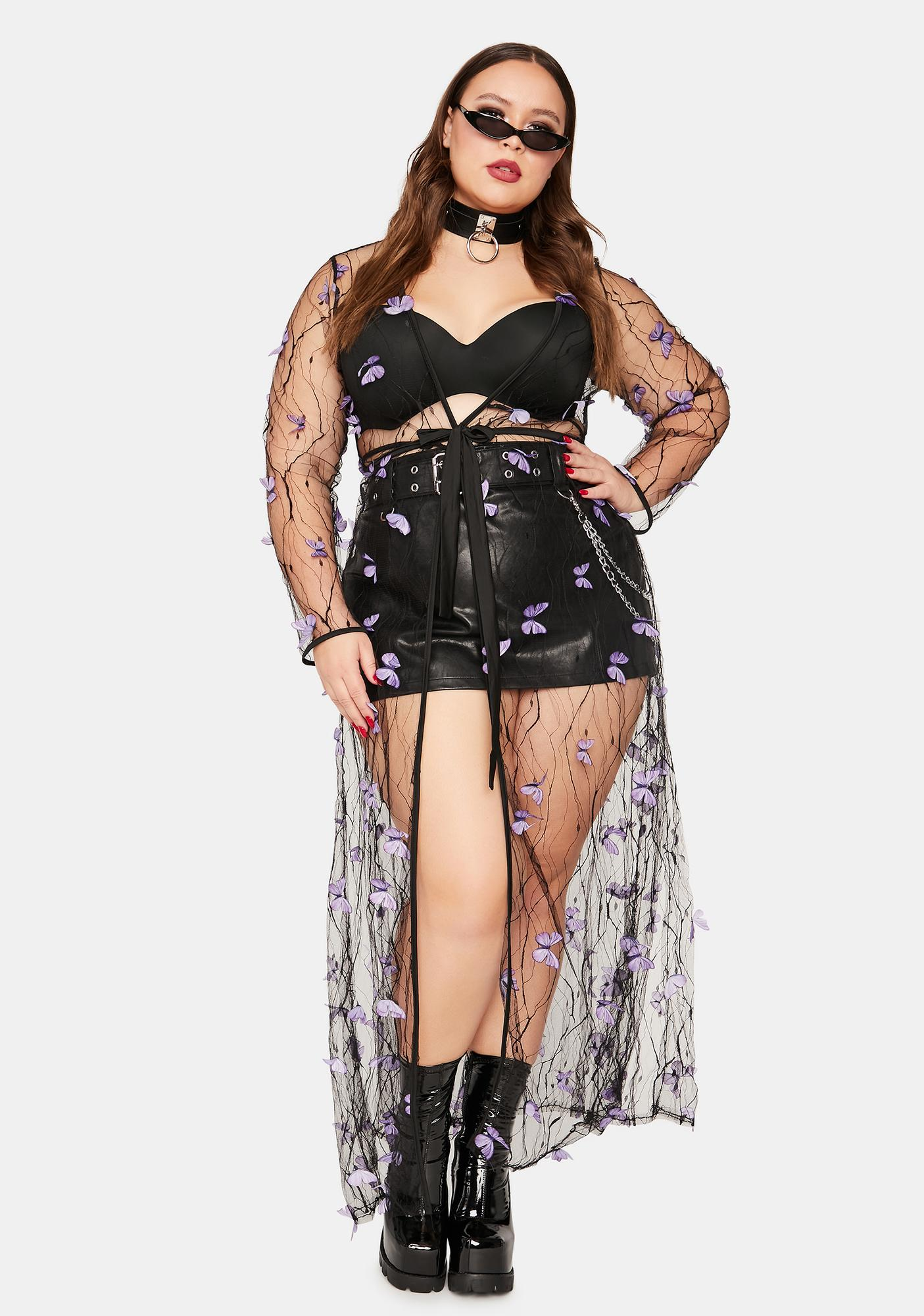 True Fairy Haven Sheer Butterfly Duster