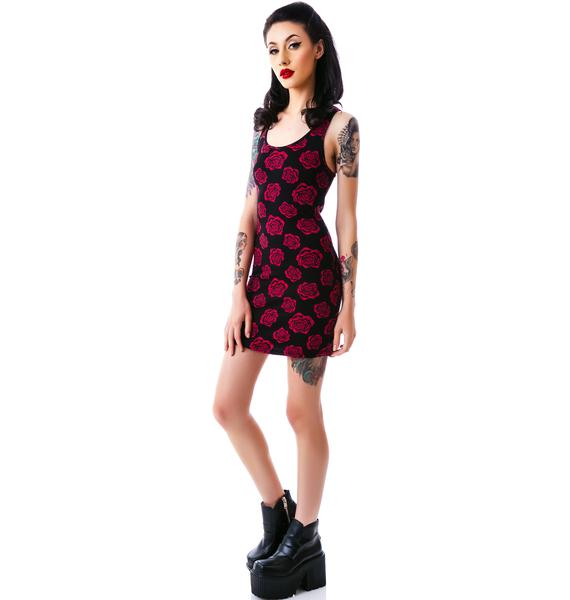 Sourpuss Clothing Omni Roses Tank Dress