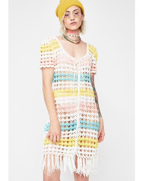 Groove Is In The Heart Crochet Dress