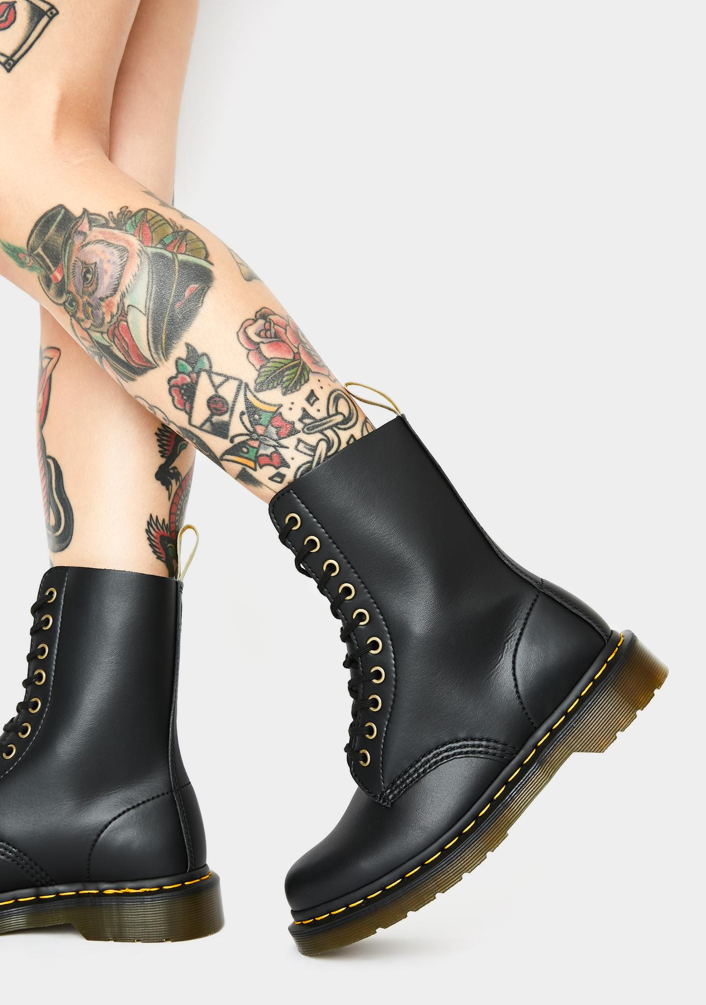 Dr. Martens 1490 10 Eye Boot in Leopard Print (want