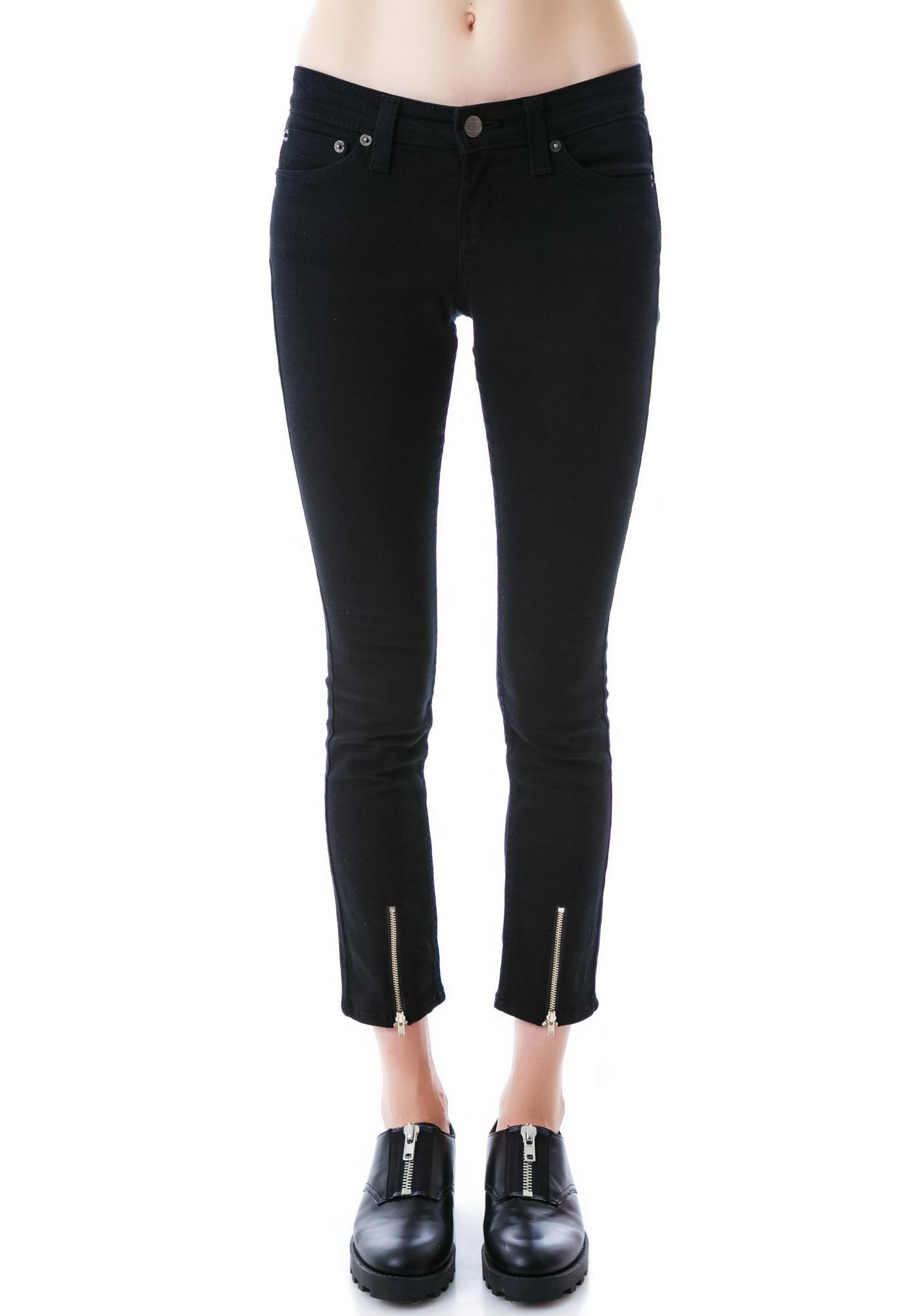 JET by John Eshaya Zip Front Skinny Jeans