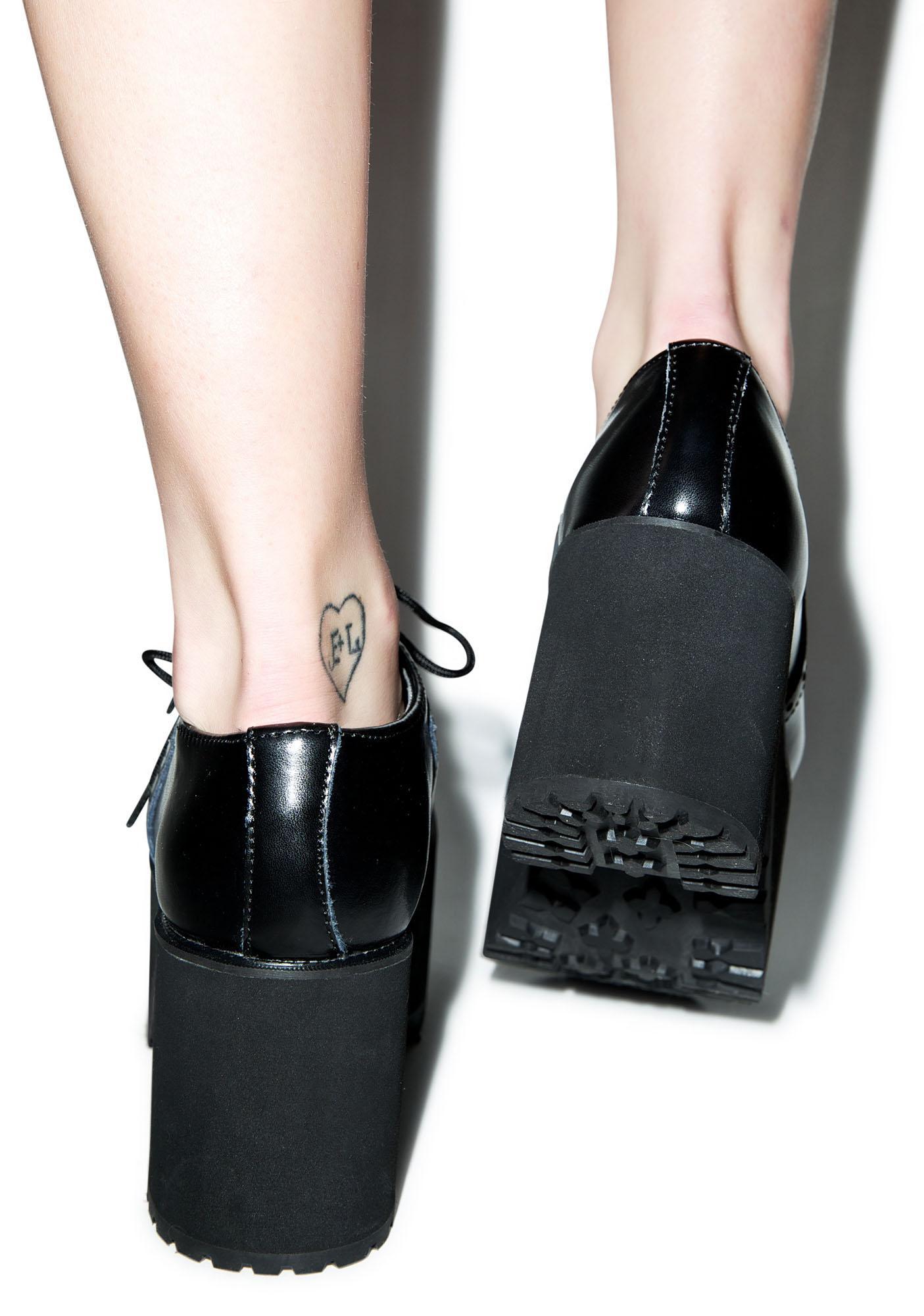 T.U.K. Wingtip Nosebleed Heels