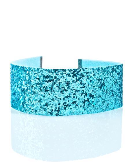 Ice Blue Glitter Choker