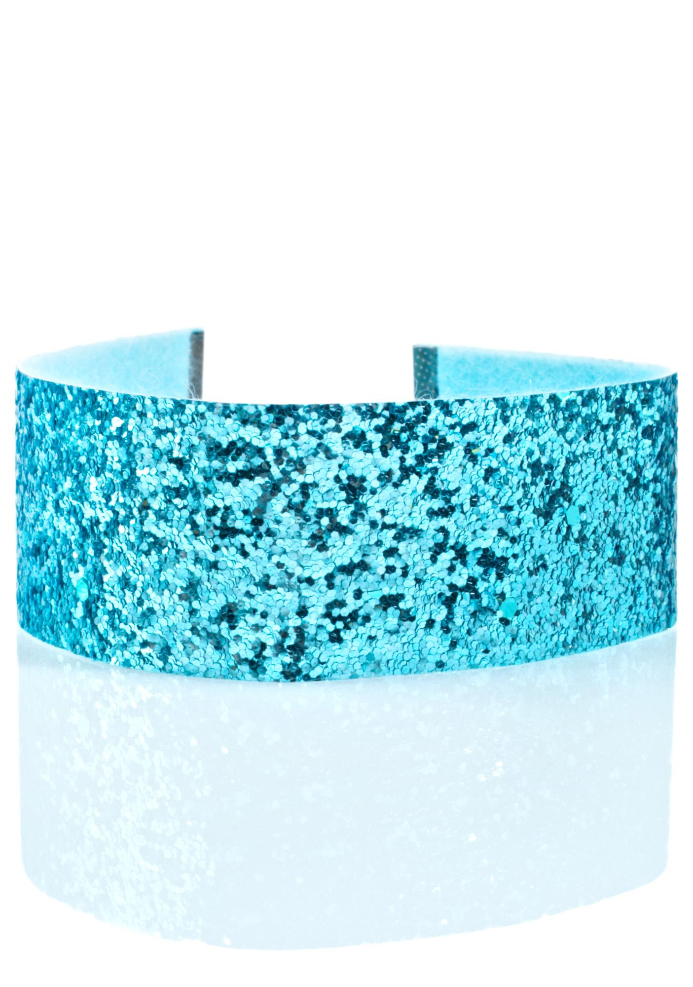 Regal Rose Ice Blue Glitter Choker