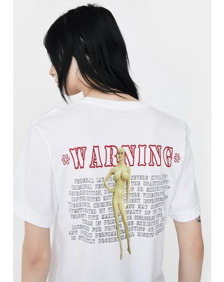 Warning Graphic Tee