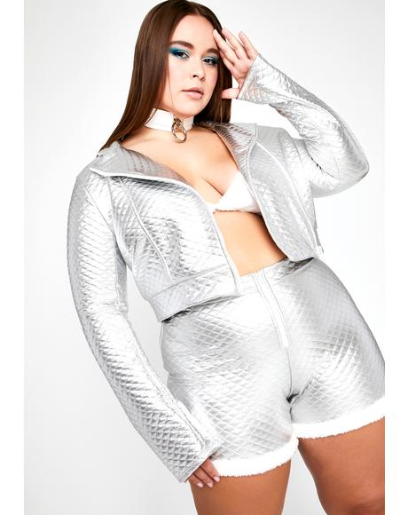 Chrome Forever Flirting With Disaster Crop Jacket