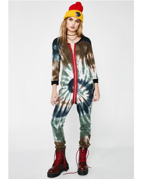 Trippin' Out Zip-Up Onesie