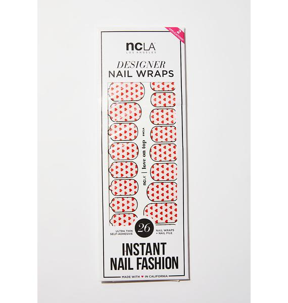 NCLA Love On Top Nail Wraps