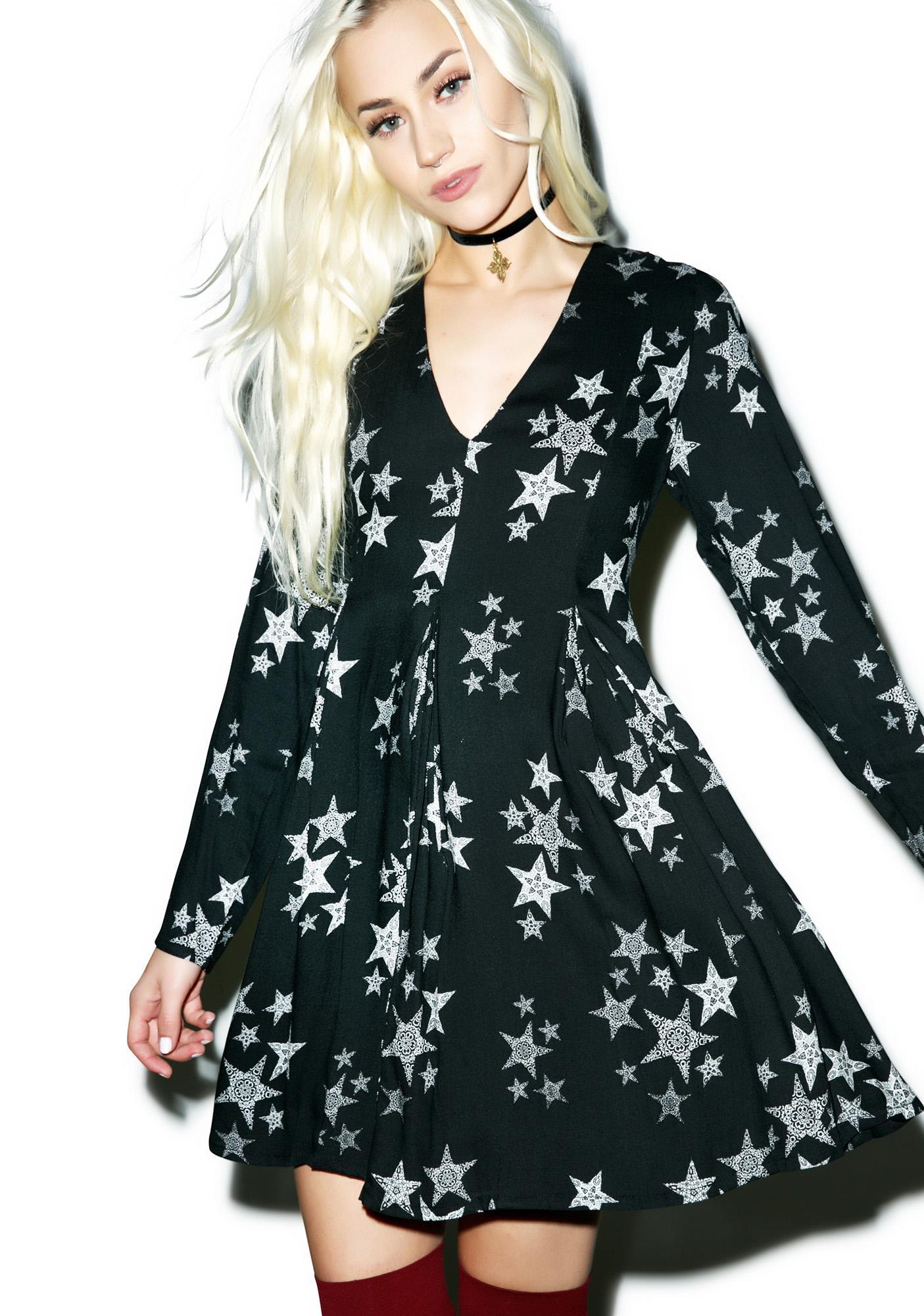 0f32addf0f86 Mink Pink Star Struck Deep V-Neck Dress | Dolls Kill
