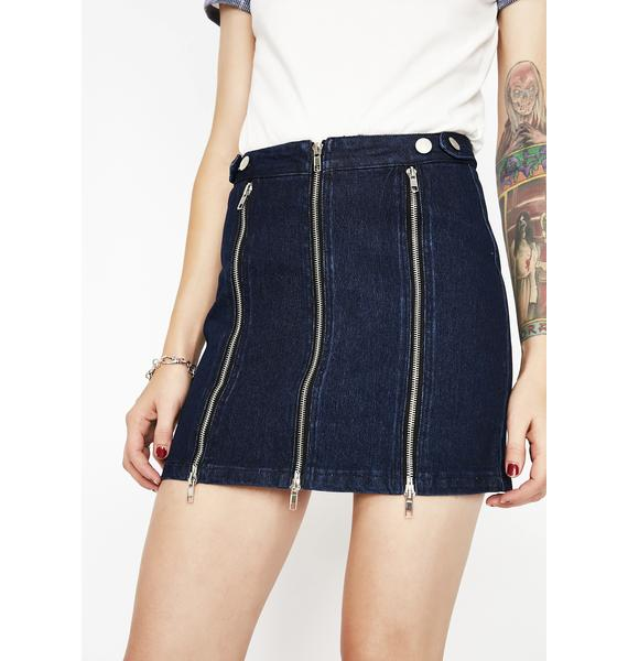 Triple Threat Zipper Mini Skirt