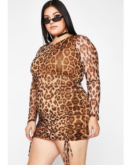 Forget Regret Mesh Dress