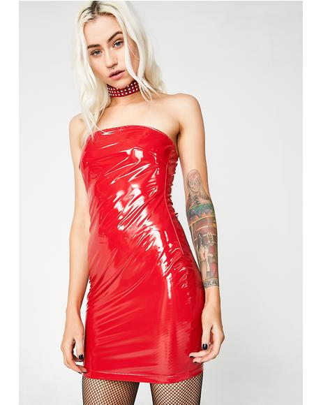 Bad Mistake Vinyl Dress
