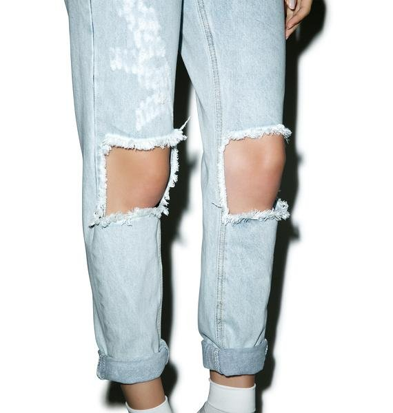 Glamorous Won't Stop Destroyed Boyfriend Jeans