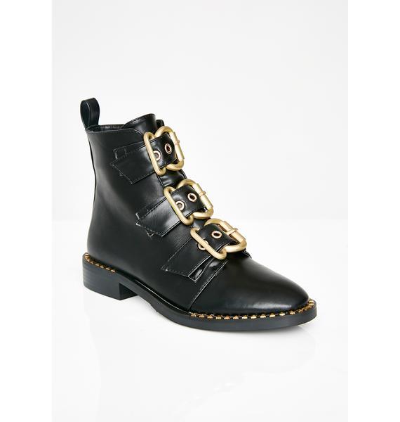 AZALEA WANG Bond Buckle Boots