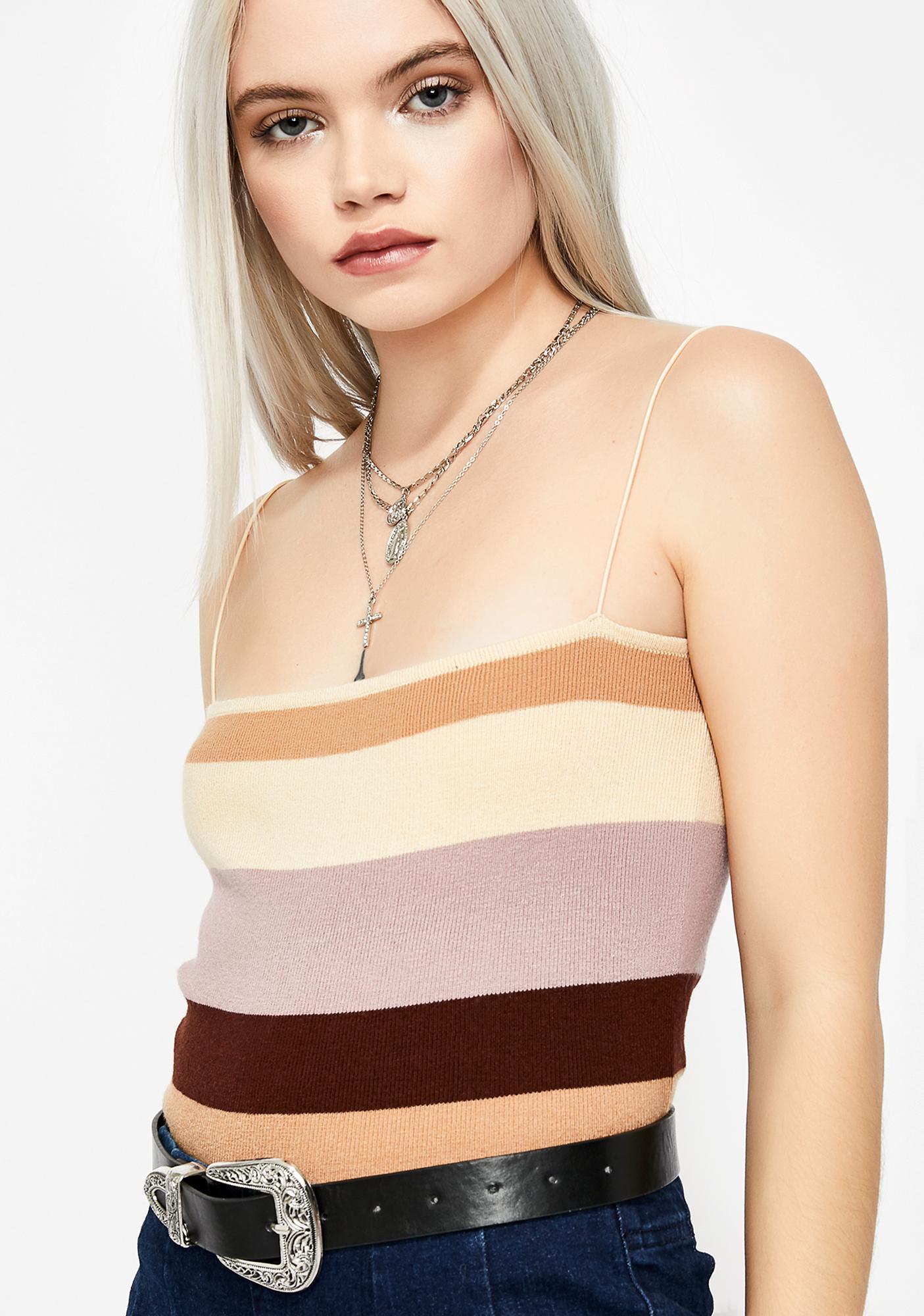 Blushing Babe Striped Top