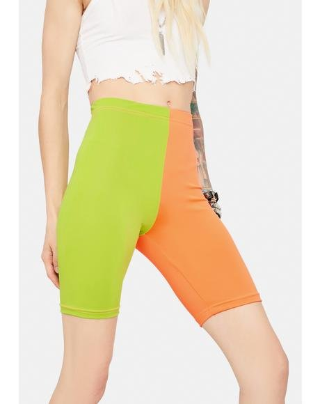 Never Too Late Colorblock Bike Shorts