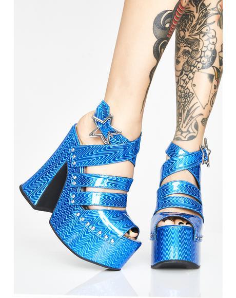Liquid Hypnosis Platform Sandals